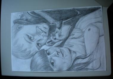 joonistan portrette..
