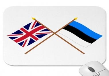 aitan sul tõlkida eesti keelest inglise keelde või vastupidi.