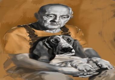 Ma teen digimaalina kvaliteetse must-valge või värvilise portree