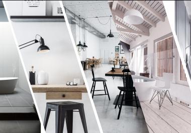Modelleerin/renderdan eksterjööre, interjööre, mööblit, tooteid.