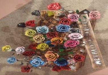 valmistan lehtmetallist roose kingitusteks ja kaunistusteks.