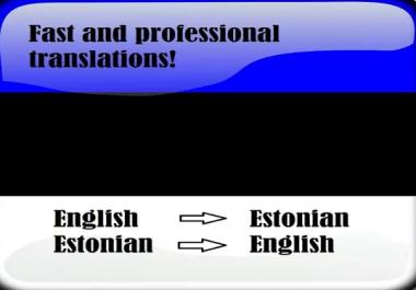 Ma tõlgin 2000 sõna inglise keelest eesti keelde ja vastupidid