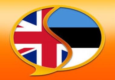 tõlgin suunal Eesti- Inglise ja Inglise-Eesti
