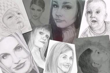 joonistan portreesid