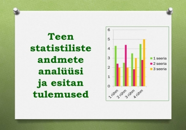 teen statistiliste andmete analüüsi ja esitan tulemused