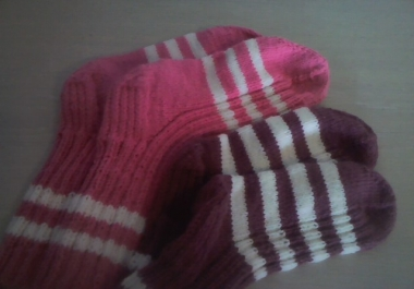 Ma koon tellimuse peale käsitsi sokke