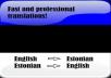 tõlgin 2000 sõna inglise keelest eesti keelde ja vastupidid